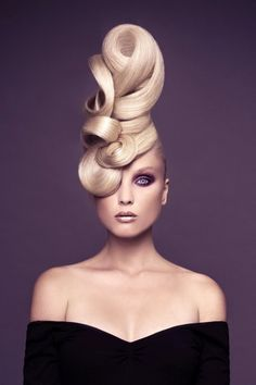 Rolled & twisted hair updo