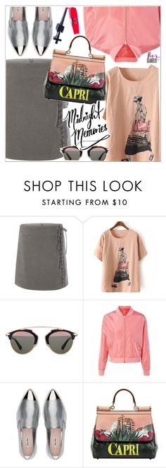 """Midnight memories"" by teoecar ❤ liked on Polyvore featuring Christian Dior, Miu Miu, Dolce&Gabbana, Manic Panic NYC and gearbest"