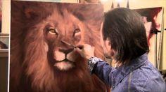 GRATUIT! Didacticiel vidéo complet. Portrait d'un lion. Sakharov