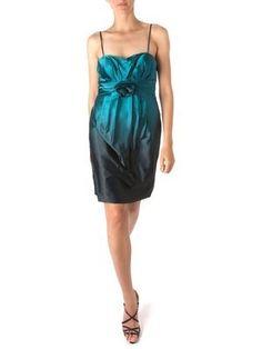 LINEA Ladies Satin Rose Emerald Cocktail Dress #Halloween #Hollyoakslater #Chistmas #Dress