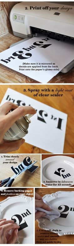 DIY Transfer Decal Tutorial ,