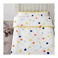 DRÖMLAND Dekbedovertrek&sloop voor babybed - IKEA