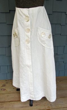 Vintage Late Edwardian or Early 1920s Tennis Skirt by JustTooMuch, $65.00