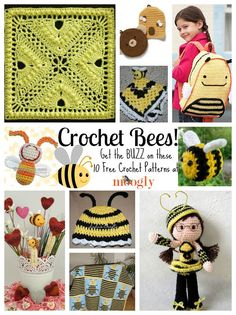 10 Free Crochet Bee Patterns