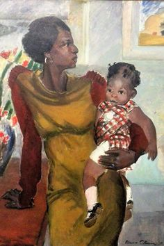 Harlem by Elanor Colburn (American), oil on canvas, genre: Modernism, 1937 African American Artist, African Art, American Women, American History, Native American, Claudia Tremblay, Romare Bearden, Harlem Renaissance, Renaissance Artists