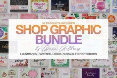 SHOP GRAPHIC BUNDLE by Daria Bilberry on @creativemarket