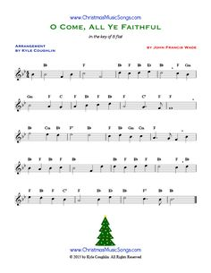 O Come, All Ye Faithful sheet music