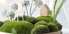 Décoration de table: faire un paysage miniature avec de la mousse