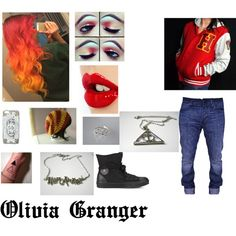 """""""Olivia Granger"""" by armed-angel661 on Polyvore. Also known as: O.J. Weapon: Sharp wand. Personality: Tom boy, funny, strange at times. Bffs: Max,Jeff, BEN, Nickers. Boyfriend: Ethan. Song:With Out Me (Eminem)"""