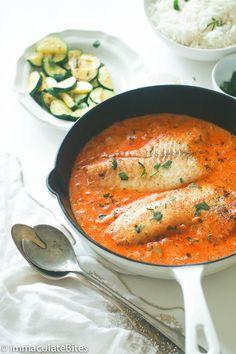 Fish in cream sauce