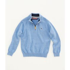Shop Sweaters for Boys': Cotton 1/4-Zip Sweater for Little Boys' - Vineyard Vines