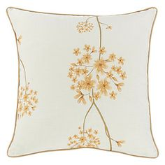 Graceful Country Floral Clusters Polyester Decorative Pillow Cover - USD $ 12.99