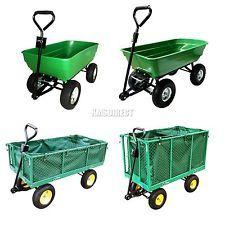 FoxHunter Heavy Duty Garden Dump Truck Tipping Trailer Trolley Cart Wheelbarrow