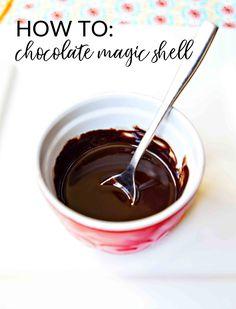 Healthy Copycat Dairy Queen Chocolate Magic Shell Recipe