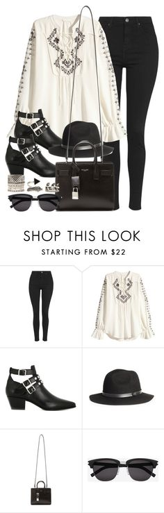 """Style #10343"" by vany-alvarado ❤ liked on Polyvore featuring Topshop, H&M, Yves Saint Laurent and Forever 21"