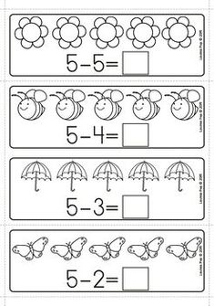 Spring Math Centers for Kindergarten B&W – Lavinia Pop Spring Math Centers for Kindergarten B&W Spring Math Centers for Kindergarten B&W. Subtraction with pictures. Thanksgiving Math, Christmas Math, Math Center Rotations, Math Centers, Reggio, Kindergarten Centers, Preschool Math, Subtraction Kindergarten, Spring