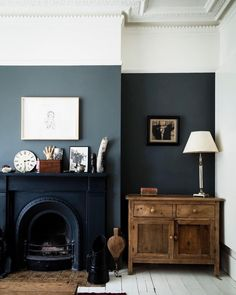 Are Dark Green Walls the New White Walls? (Short Answer: We Think Maybe) - Emily Henderson Are Dark Green Walls the New White Walls? (Short Answer: We Think Maybe) - Emily Henderson Style At Home, Home Living Room, Living Room Designs, Dark Walls Living Room, Dark Wood Furniture Living Room, Living Area, Dark Dining Rooms, Apartment Living, Living Room Wall Colours