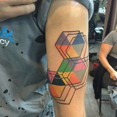 """86 Likes, 6 Comments - Neil (@neil.t.tattoos) on Instagram: """"#geometrictattoo from a couple days ago. This was a fun one to design. I wouldn't mind doing up…"""""""