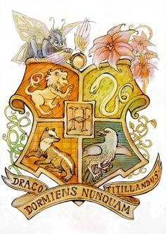 Hogwarts Crest by Linnpuzzle