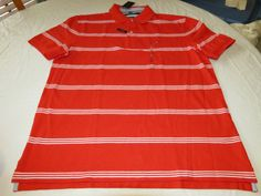 Men's Tommy Hilfiger Polo shirt logo 7871410 La Jolla Red 613 L Classic Fit #TommyHilfiger #polo