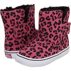 Vans kids slip on boot infant toddler suede leopard aurora pink e38f4ac73