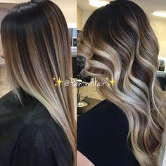 ✨❤Blondest Blonde and Brunette Marbled ✨Painted Hair✨blended into the natural root‍. Which one do you prefer? Straight or Waved? ❤ ✨✨✨✨✨✨✨✨✨✨✨✨✨✨✨✨✨ New page: @paintedhaircertified ✨✨✨✨ Education waiting list: paintedhair1@gmail.com ✨✨✨✨✨✨✨✨✨✨✨✨✨✨✨✨✨ . . #brazilianbondbuilder #licensedtocreate #hairinspo #brunettehair #behindthechair #modernsalon #hudabeauty #beforeandafter #hairandmakeup #haircolorist #shinyhair #hairtutorial #hairvideos #haireducation #stylists #blondebalayage ...