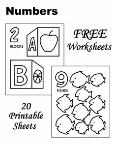 Looking for a Free Printable Learning Worksheets For Kids. We have Free Printable Learning Worksheets For Kids and the other about Play Kids it free. Preschool Number Worksheets, Teaching Numbers, Numbers Preschool, School Worksheets, Free Preschool, Preschool Printables, Kindergarten Worksheets, Worksheets For Kids, Preschool Coloring Pages