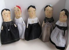 folk art dolls by Cathy Cullis