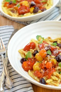 Tuesday Tastings: Roasted Heirloom Tomato Pasta by Camille Styles