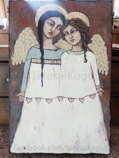 Acrylic angel painting by ©Teresa Kogut