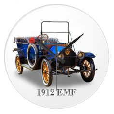 1912 EMF ROUND WALLCLOCK