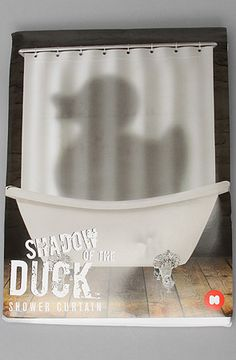 The Shadow of the Duck Shower Curtain by Mustard