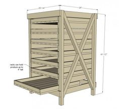 DIY Furniture Plan from Ana-White.com  Build a produce food storage drying rack! Free plans from Ana-White.com