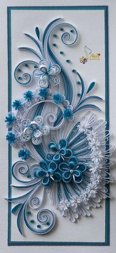Blue & White Floral Swirls