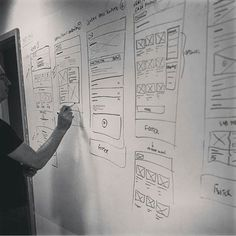 Wireframing of a web application on a whiteboard allows for ideas to be up where everyone can view and review them. Credit to @designagency via @humble_ux  Tag a friend 👇 comment and follow @humble_ux for more👆. #wireframing #digital #interface #mobile #design #application #ui #ux #webdesign #app #userinterface #photoshop #userexperience #inspiration #materialdesign #uxdesignmastery #creative #dribbble #time #behance #appdesign #sketch #designer #website #programming #art #work #concept…