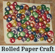 Rolled Paper Strips Kids Crafts ~ Putti's World -kids-activities
