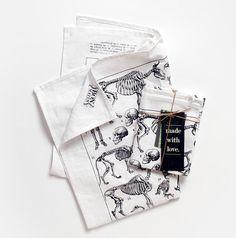 Bon Matin Dish Towel / Tea Towel - Les Squelettes