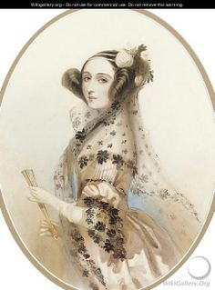 Ada, Countess of Lovelace - Alfred-Edward Chalon, daughter of Lord Byron.