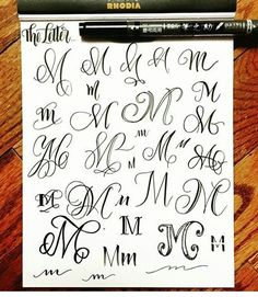 Hand Lettering Fonts Ideas Creative Brush Calligraphy Alphabet Learn Font Caligraphy Fancy