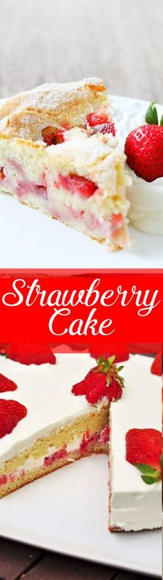 Strawberry Cake will be your new favorite summertime treat. Reminiscent of a classic French Apple Cake it has a crumb that is sweet and custardy ...