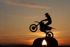 Dirt bike Sunset