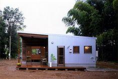 Small House Exteriors, My House Plans, Minimal Home, House Landscape, Steel House, Small House Design, Japanese House, Facade House, Little Houses