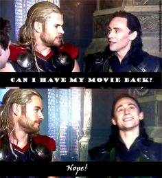 Tom stole Chris' thunder. :)... (Pun not intended) <--- Yeah, and people can't deny it anymore. Loki (by himself) was on the cover of the DVD/Blu-Ray combo pack.