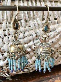 Nomadic Afghan Dangle Earrings