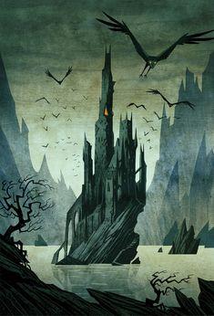 "Illustrations for a new edition of Astrid Lindgren's children's book ""Mio min Mio"" Dark Fantasy Art, Dark Art, Cultures Du Monde, Gothic Themes, Fantasy Castle, Game Concept Art, Fairytale Art, Creepy Art, Pulp Art"