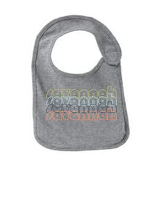 Savannah-Georgia-Retro-Funny-Infant-Jersey-Bib Have fun with your future grown ups. These are adorable bibs, sure to bring a smile to everyone. Super Soft Jersey Cotton!