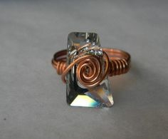 Swarovski Clear Crystal Trapazee Ring 2 by jewelrysldesigns, $25.95