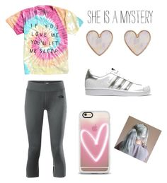 """Lazy day basics 👌🏻"" by ay0ava on Polyvore featuring The North Face, New Look, Casetify and adidas Originals"