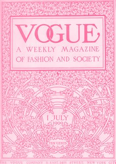Awesome Vintage Vogue Cover. Can I frame this?