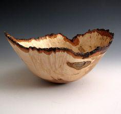Natural Bark Edge Maple Burl Hand Turned Wood by JLWoodTurning, $84.00